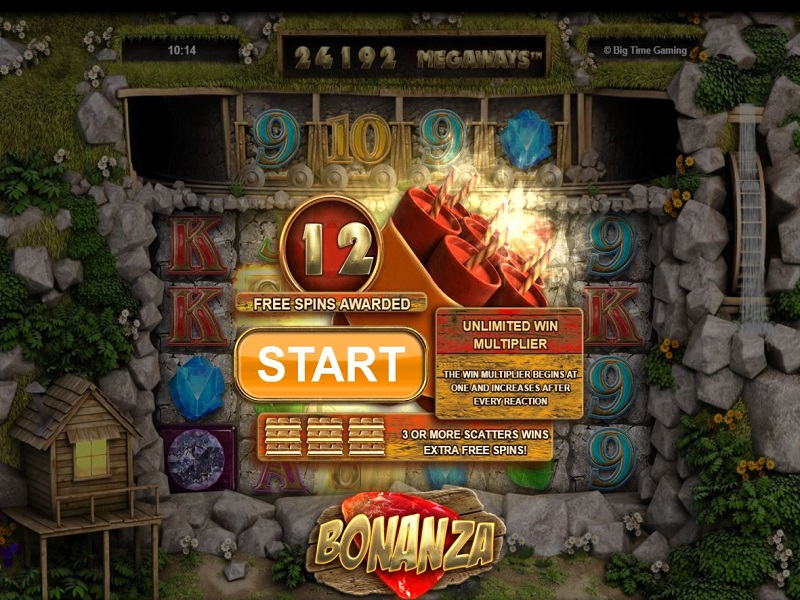 Bonanza Megaways Free games triggered