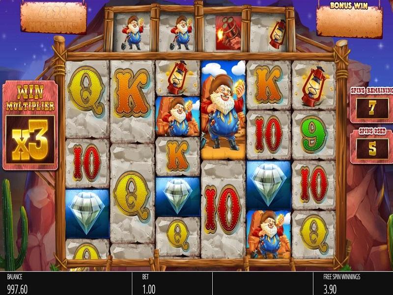 Diamond Mine Megaways Free games grid