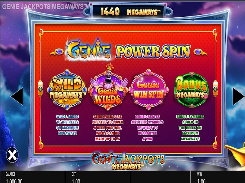 Genie Jackpots Megaways Random in-play features