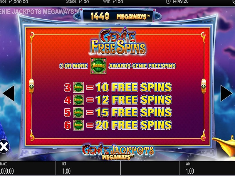 Genie Jackpots Megaways Free spins trigger guide