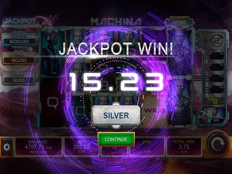 Machina Megaways Free games silver jackpot win