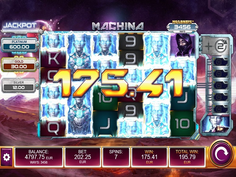 Machina Megaways Free spins top symbol Robot win