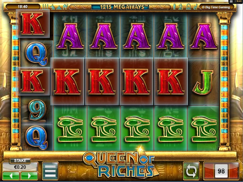 Queen of Riches Megaways Reels cloned screen