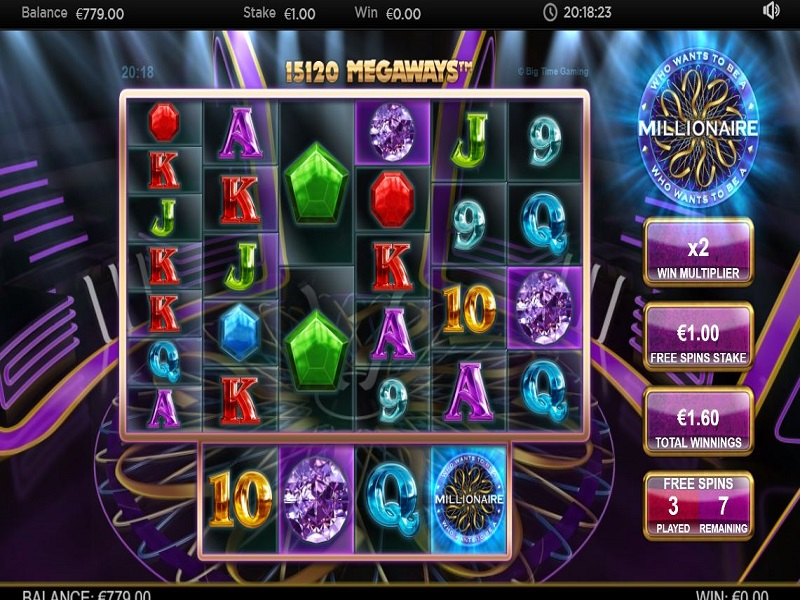 Who Wants To Be A Millionaire Megaways Free Spins screen