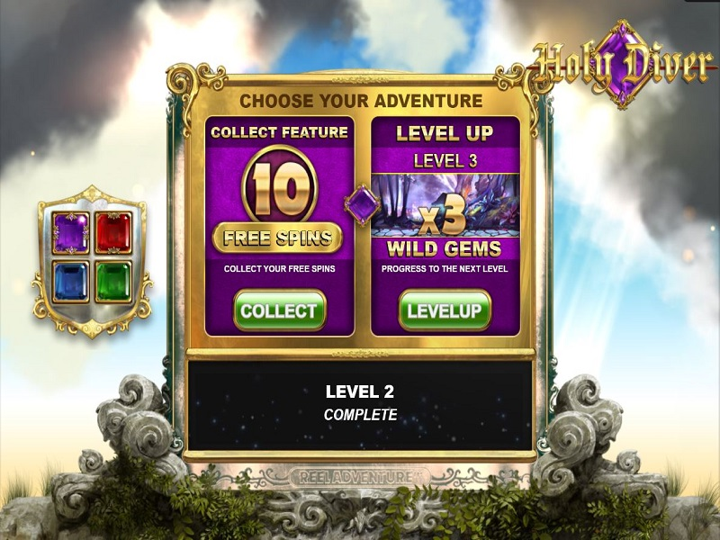 Holy Diver Megaways Free spins intro