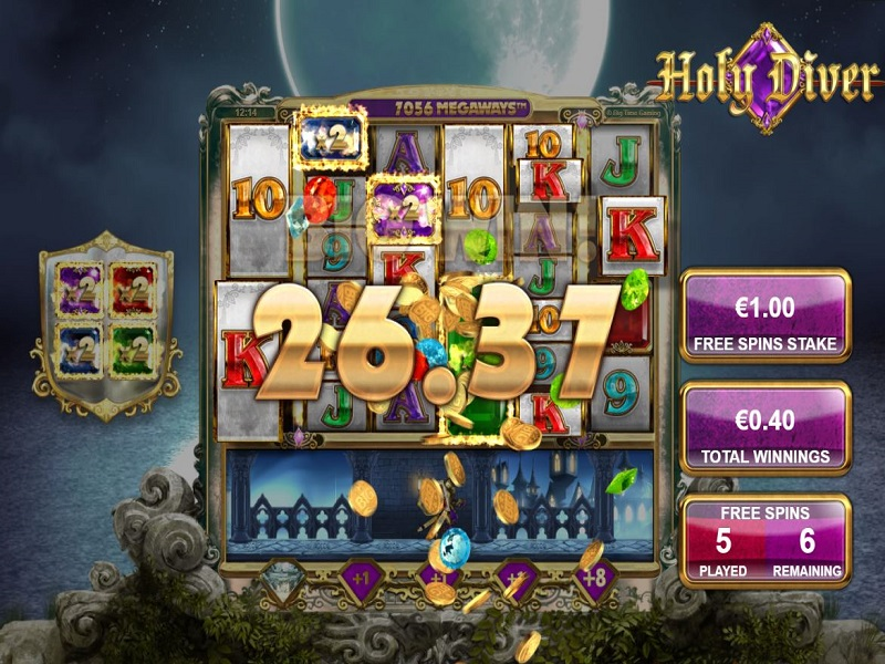 Holy Diver Megaways Free spins screen
