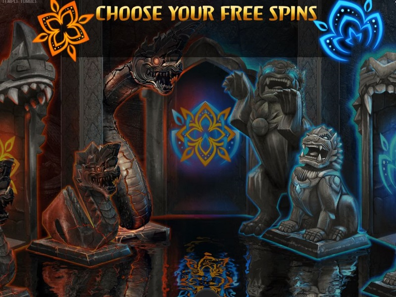 Temple Tumble Free games triggered options screen