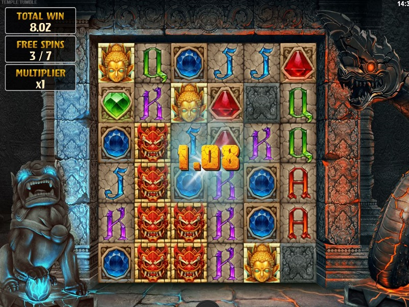 Temple Tumble Free spins game screen option 3